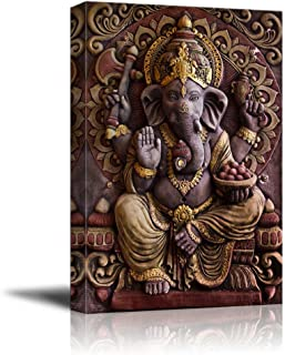 wall26 - Sculpture of Gannesa Hindu God - Canvas Art Wall Decor - 16