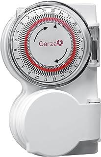 Garza 400601 Temporizador-programador analógico de exterior, Blanco