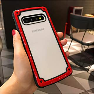 IMIFUN Samsung Galaxy phone s1 Case for S/Note/8/9/10/plus/lite Ultra Protection Military Grade Drop and Shock Proof Extreme Heavy Duty Protection and Air Cushion Technology for Samsung (Red, s10plus)