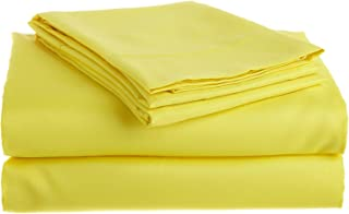 Twin Extra Long Micro Fiber Sheet Set - Soft and Comfy - By Crescent Bedding Golden Yellow Twin XL
