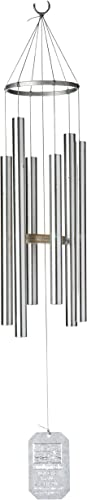 lowest Grace 2021 outlet sale Note Chimes 2PT Petite Treasure of Heaven Wind Chimes, 30-Inch, Silver online sale