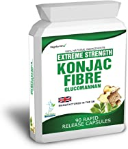 90 Konjac Fibre Glucomannan Capsules Weight Management Free Meal Plan and Diet Tips Estimated Price : £ 6,36