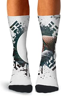 Mens Novelty Funny Crazy Athletic Tube Crew Socks Tiger Skin Dress Socks