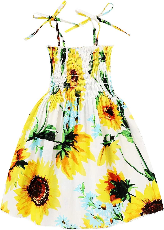Kids Toddler Baby Girls Summer Albuquerque Mall Tu Lemon Sunflower Dress Charlotte Mall Princess
