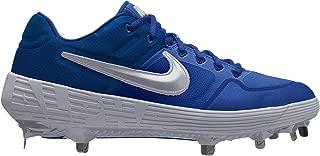 New Mens Alpha Huarache Elite 2 Low Baseball Cleat Royal Blue/White Sz 7.5M