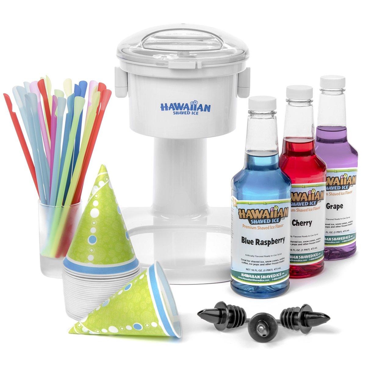 Hawaiian Translated Shaved Ice Snow Max 44% OFF Cone Machine 3 Kit Flavor