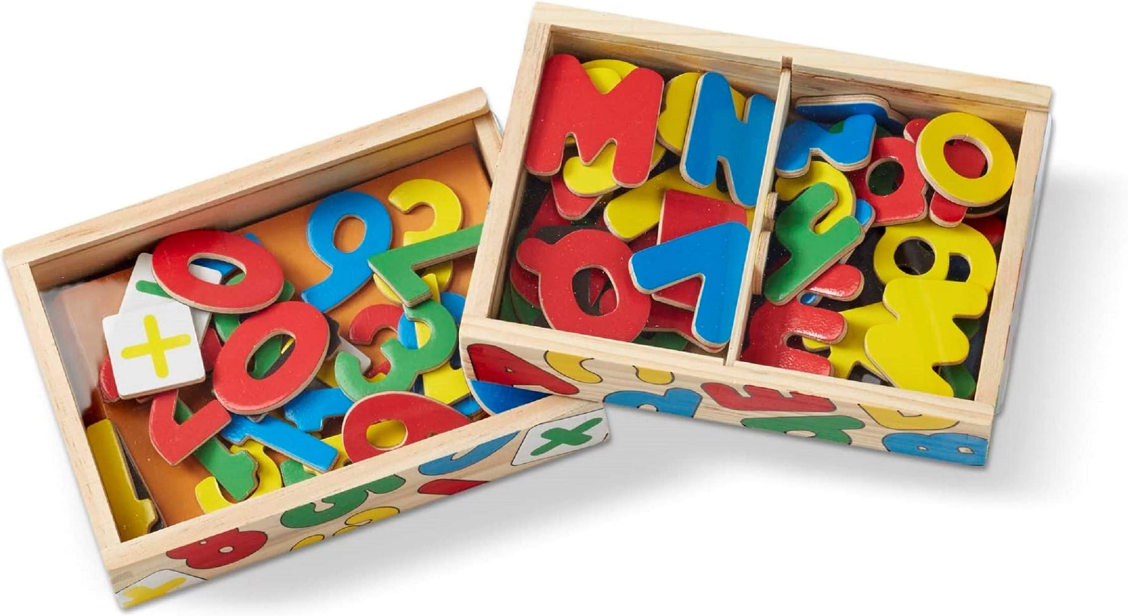 TONZE Magnetic Letters and Numbers Wooden Toys-Kids Toys Wooden Numbers Alphabet