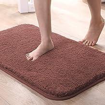 Bathroom Rug Bath Mat 80 x 50cm, REAKOO Non-Slip Machine Wash Soft Shower Carpet Rug for Bathroom, Toilet, Kitchen and Liv...