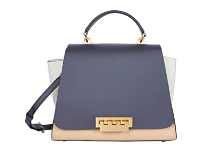 ZAC Zac Posen Eartha Soft Top-Handle Color-Block (Multi) Handbags