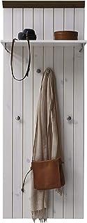 Steens Furniture Penderie Murale en Blanc/Marron-Gris, 52 x 7 x 144 cm, pin, Stone, 52 x 7 x 144