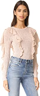 Ronny Kobo Womens Maaria Knit Bodysuit Stone