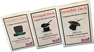 Magic Masters Combo: Invisible, Svengali and a Standard Deck Deception Trick Kit Red Back
