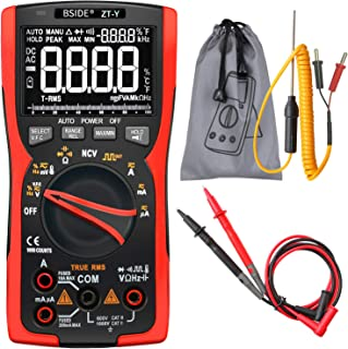 BSIDE EBTN LCD Multimeter 3-Line Display 9999 Counts True RMS Auto-Ranging Voltmeter Capacitance Temperature Voltage Amp H...