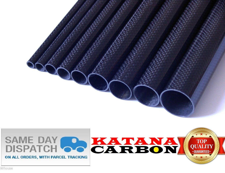 Plain Weave-High Gloss Red Carbon Fiber Tubing 3K 20mm x 18mm x 1000mm