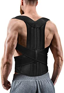 Back Brace Posture Corrector for Women and Men, Back Braces for Upper and Lower Back Pain Relief, Adjustable and Fully Bac...