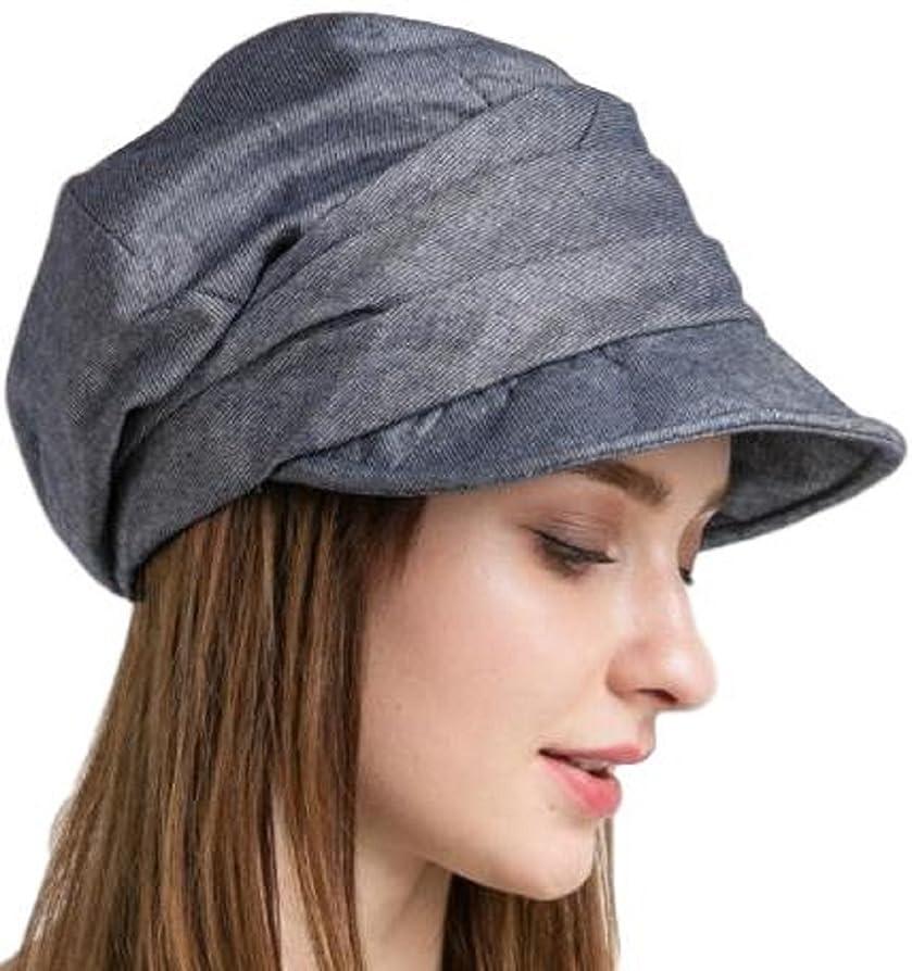 野球対応魔女レディース サイズ調節 キャスケット 帽子 シンプル デザイン コットン 100% グレー ベージュ ブルー uvカット つば広 オシャレ 紫外線対策 無地 夏
