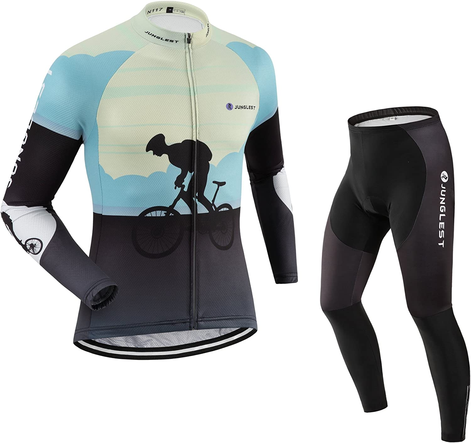Cycling jersey Set, Maillot de Cyclisme Wen Homme Long sleeve Manches Longues(S5XL,option bib Cuissard,3D pad Coussin) N117