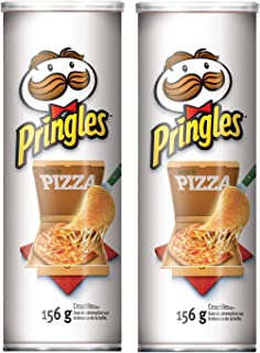 Pringles Potato Chips, Pizza Flavour, 156g/5.50oz (2 Pack){Imported from Canada}