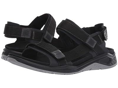 ECCO Sport X-Trinsic Textile Strap Sandal (Black/Black Textile) Men