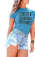 Tshirt for Women Punks Against Racism Music Rock Punk Tshirt