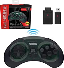 Retro-Bit Sega Genesis 2.4 GHz Wireless Controller 8-Button Arcade Pad for Sega Genesis Original/Mini, Switch, PC, Mac – I...