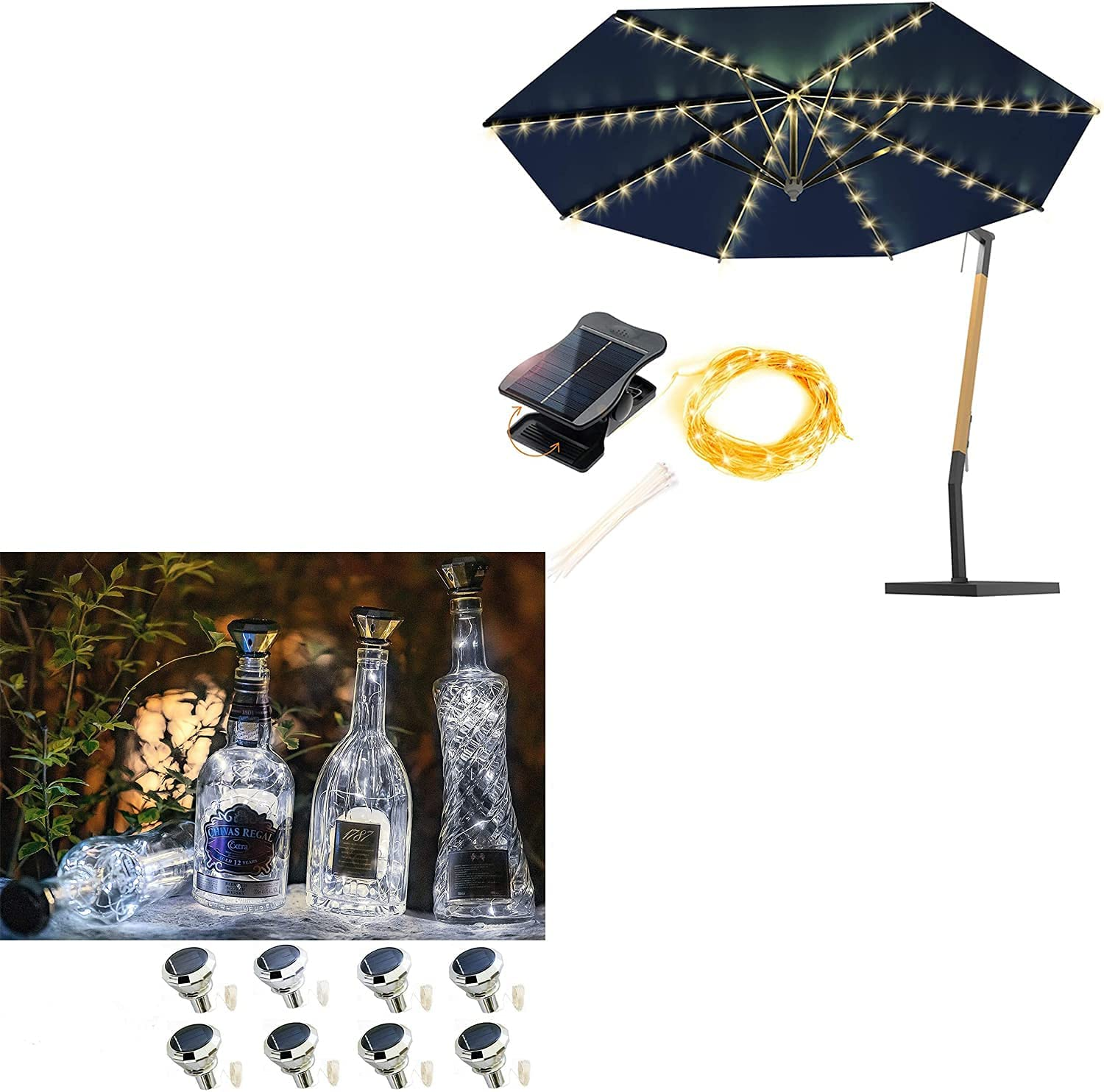 8 Modes Solar Umbrella Discount is also underway Lights Wine + Bottle Pack High quality new
