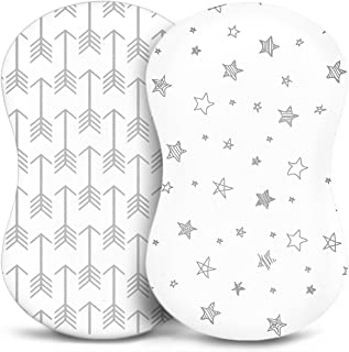 Bassinet Sheets - Fitted, Premium Jersey Cotton - Baby Bedside Sleeper Cover - Universal Sheet Set for Rectangle, Oval, or...