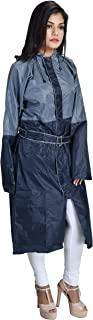 THE DRY CAPE ; LET IT RAIN rain Coats for Women Men Waterproof Best Ladies Girls Raincoat(Women-Navy-Gray)