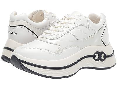Tory Burch Gemini Link Platform Sneaker (White/White) Women