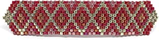 Clip per capelli rosso, Perline intrecciate, Mollette di vetro, Gioielli per capelli artigianali, Regalo fatto a mano per ...