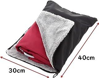 【7Gadget】 レインコート レインポンチョ 収納袋 多機能 マイクロファイバー素材 超吸水【ブラック】