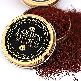 Golden Saffron, Finest Pure Premium All Red Saffron Threads, Grade A+, Highest Grade Saffron For Tea, Paell...