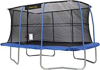 JumpKing 10 x 14 Foot Rectangular Trampoline with Safety Net Siding