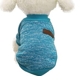 Farjing 8 Color Pet Sweater , Classic Puppy Fleece Sweater Clothes Warm Sweater Winter