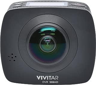 Vivitar DVR988-BLK 360 Action Camera, 4K and 1080P HD Resolution, Black