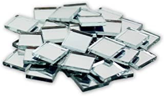 0.5 inch Small Mini Square Craft Mirrors Bulk 100 Pieces Mirror Mosaic Tiles