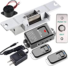 UHPPOTE Door Access Control With Electric Strike Lock Wireless Receiver And Remote Kit