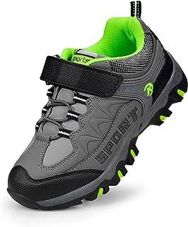 Sponsored Ad - Biacolum Boys Shoes Hiking Waterproof Tennis Running Sneakers for Kids Dark Gray 6 Big Kid