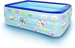 Piscina gonfiabile,Pool, Kids Pool for Indoor or Outdoor, Summer Fun Kids Swimming Pool, Inflatable Bathtub with Inflatabl...