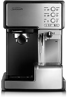 Sunbeam Café Barista | One-Touch Espresso, Latte & Cappuccino Coffee Machine | 2L Water Tank | Automatic Milk Frother & Re...