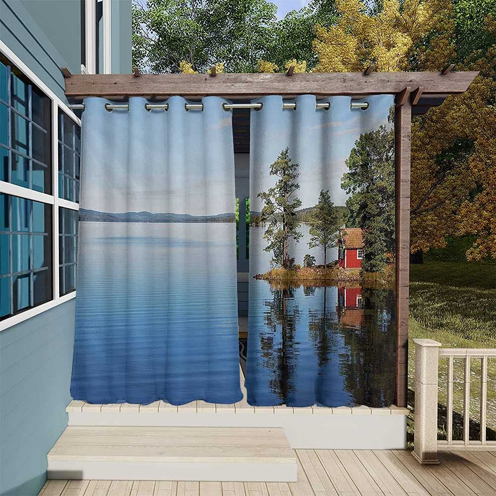 Product Landscape Jacksonville Mall Outdoor Patio Curtains Lakeside Calm with Photo Stil