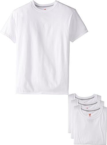 Hanes Ultimate Men's Slim Fit Crew Neck Undershirts, 4-Pack
