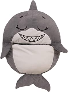 Happy Nappers, Requin, L'oreiller 2 en 1 Qui Se transforme en Sac de Couchage - Vu à la Télé, Large - Dimension Ouvert 167...