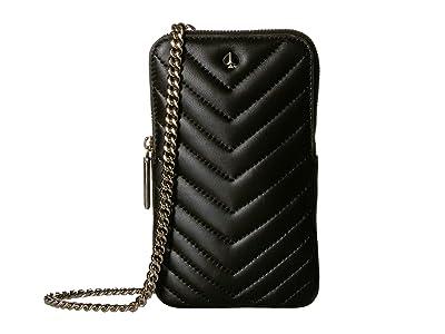 Kate Spade New York Amelia Phone Crossbody (Black) Cross Body Handbags