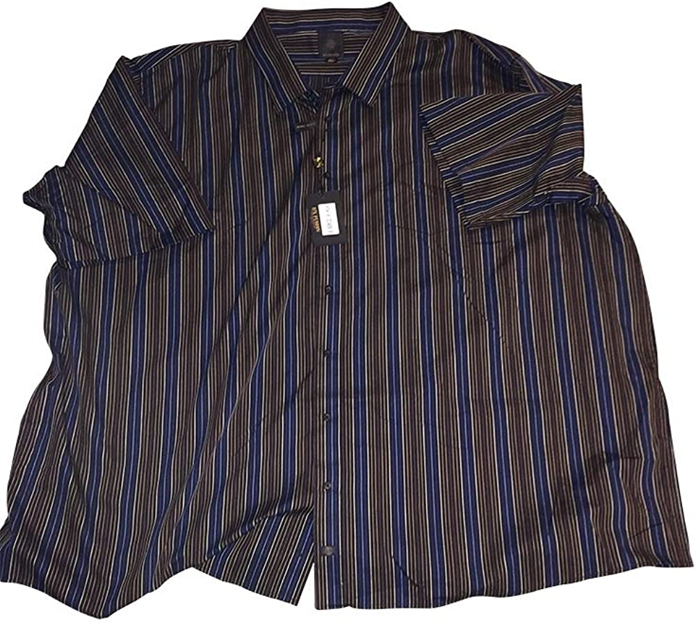Big and Tall Premium Short Sleeve Button Down Check and Stripe Shirts