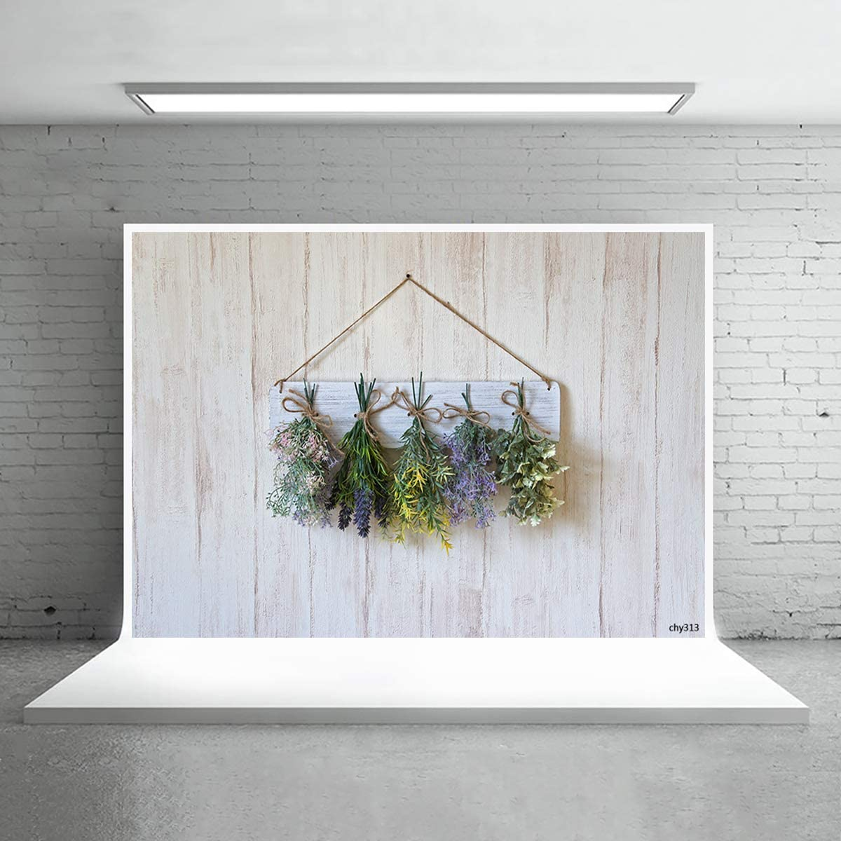 Levoo Flannel Flowers and Grass Wall Background Banner Photography Studio Boy Girl Birthday Family Party Holiday Celebration Romantic Wedding Photography Backdrop Home Decoration 6x6ft,chy309