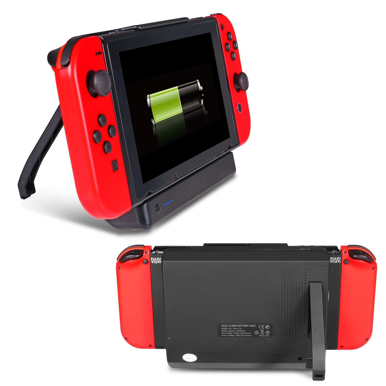 Cargador de batería Interruptor de batería Externa 10000mAh Cargador de batería con Power Bank Holder para Nintendo Switch - Negro: Amazon.es: Videojuegos
