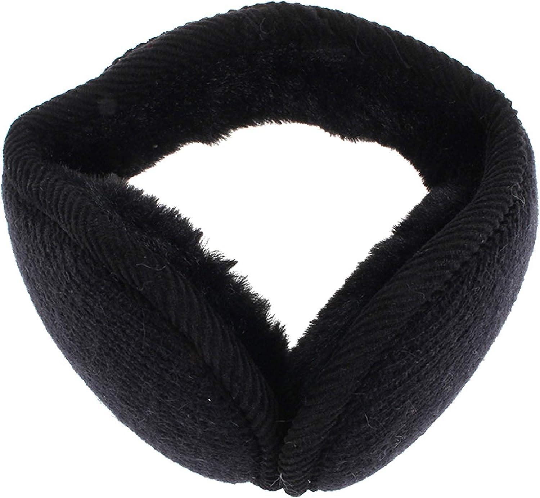RONRONS Unisex Knitted Ear Warmers Fleece Winter Earmuffs Fur Earflap Ear Cover