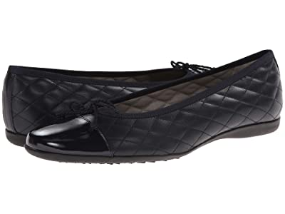French Sole PassportR Flat (Navy Patent/Navy Leather) Women