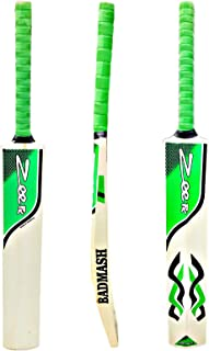 Zeepk Sports Cricket Bat Tape Ball Tennis Ball Thick Edge 44mm FULL ADULT SIZE Top Quality Kashmir Wood Short handle 2 lb Light Weight good for Club Cricket and Net practice